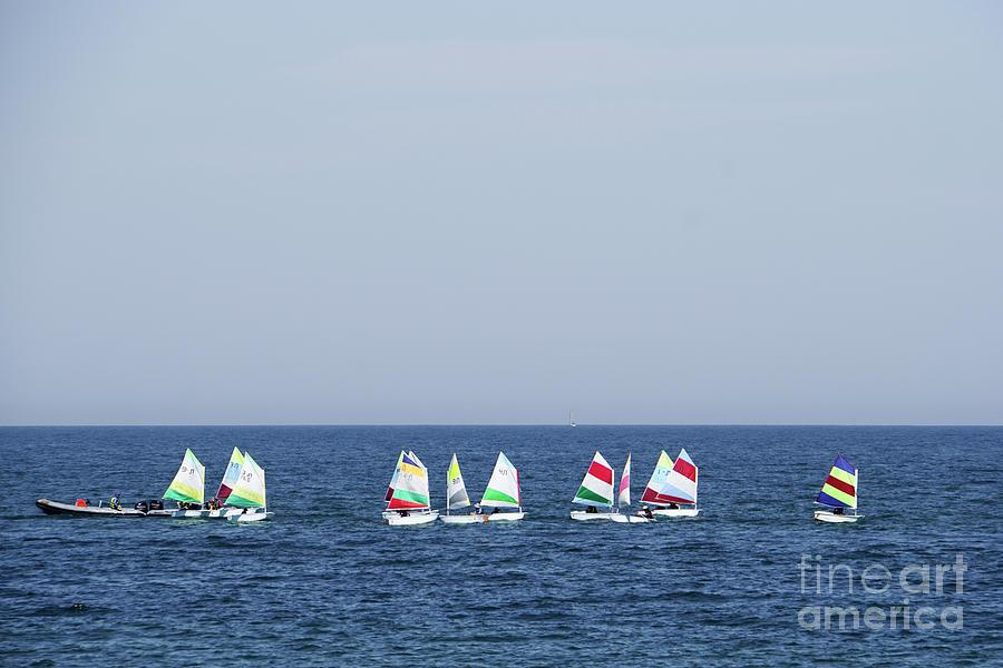 Leisure Photograph - Sailboats In The Mediterranean Sea  by Vladi Alon