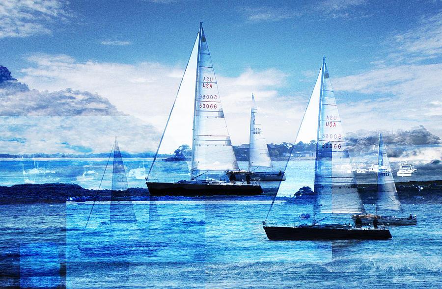 Boats Photograph - Sailboats by Matthew Robbins