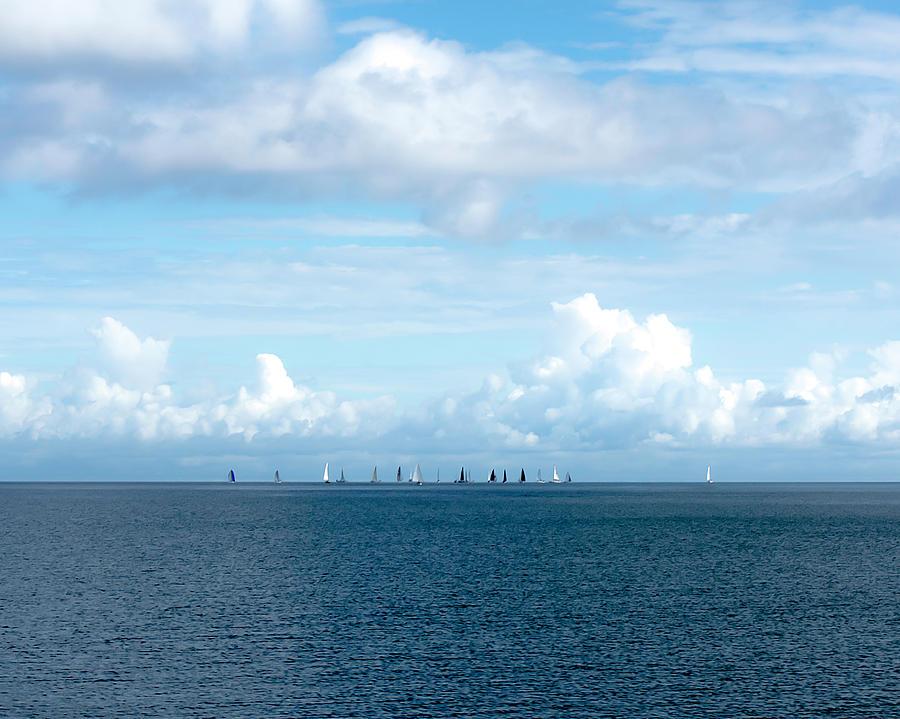 Sailboats on Lake Ponchartrain by Printed Pixels
