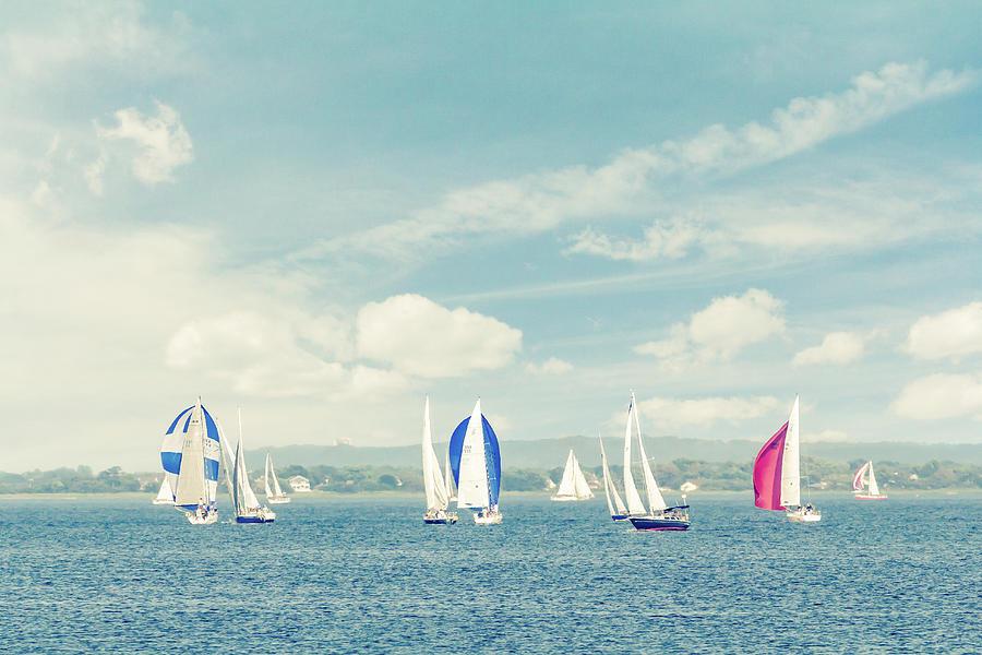 Amboy Photograph - Sailboats On The Raritan Bay by Erin Cadigan