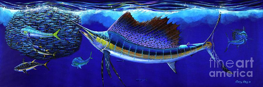 Sailfish Commotion Painting