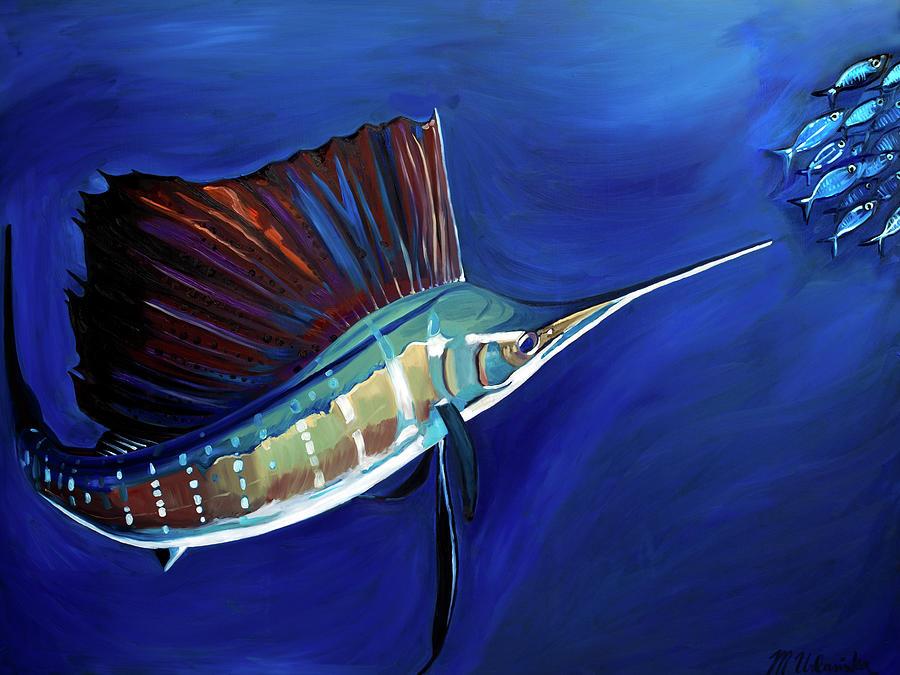 Sailfish Painting - Sailfish by Monika Urbanska