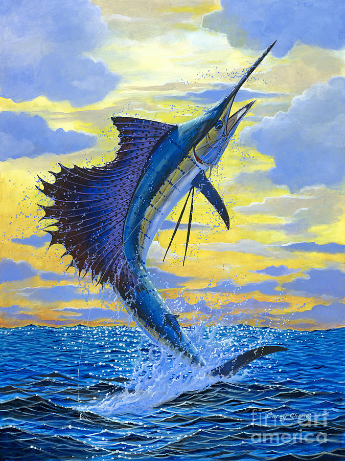 Sailfish Painting - Sailfish Point OFF00158 by Carey Chen