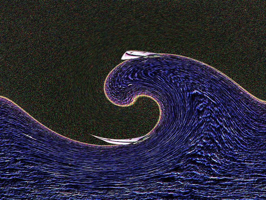 Sail Digital Art - Sailin The Wave by Tim Allen