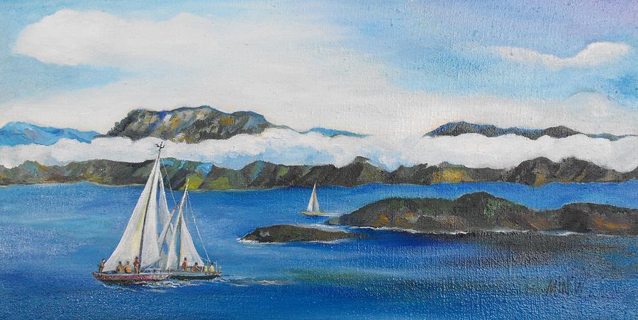 Sailing Painting - Sailing 2 by Min Wang