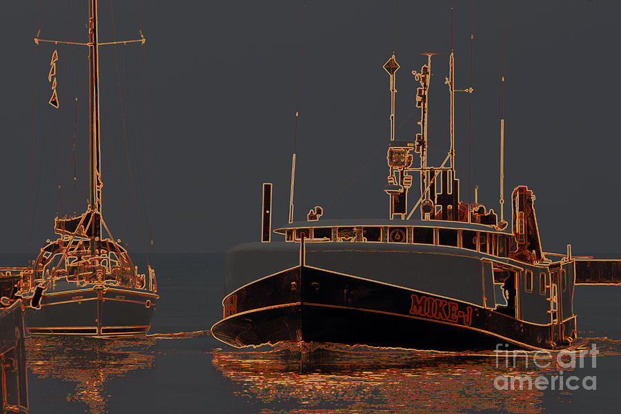 Bayfield Photograph - Sailing And Fishing 2 by John Scatcherd