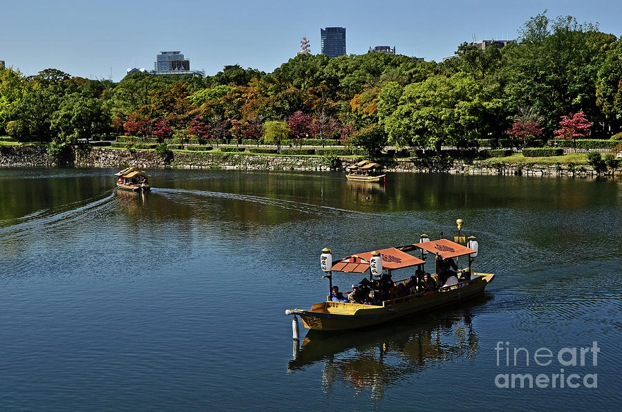 Sailing Around Osaka Castle by Carlos Alkmin