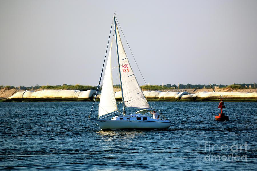Long Beach Island Photograph - Sailing At Long Beach Island by John Rizzuto