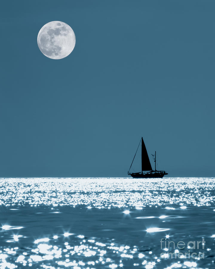 Sky  - Sailing At Night by Patrick M Lynch