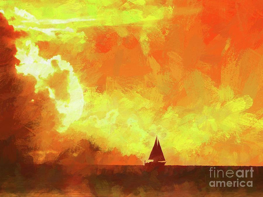 Sailing Away Photograph - Sailing Away From The Sun by Scott Cameron