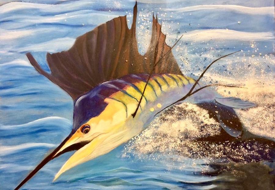 Sailfish Mixed Media - Sailing Away by Jason Rosenstock