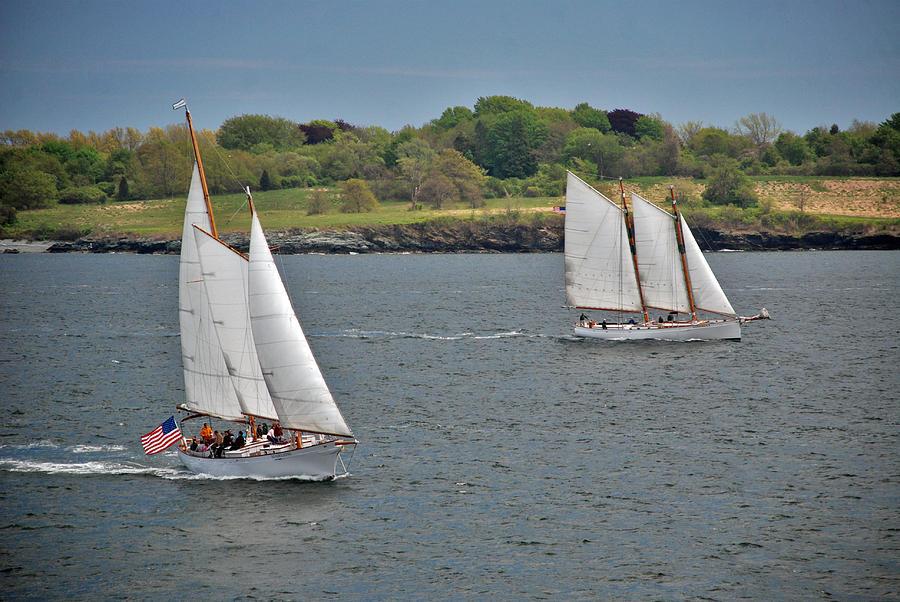 Sail Photograph - Sailing Away by Mark Wiley