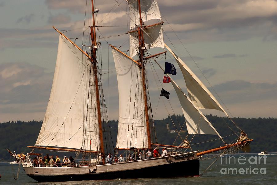 Boat Photograph - Sailing Away by Robert Torkomian