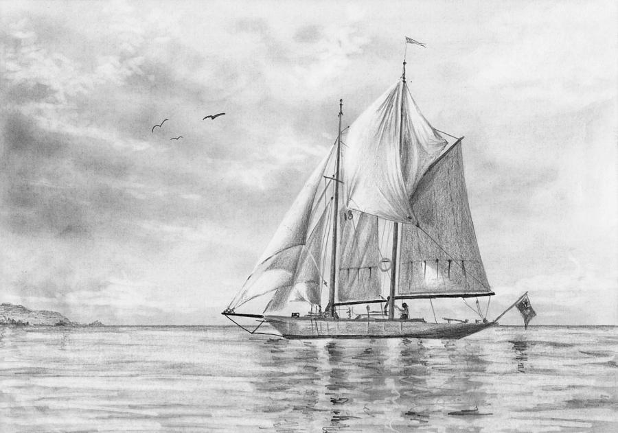 Sailing Boat Drawing by Nolan Clark