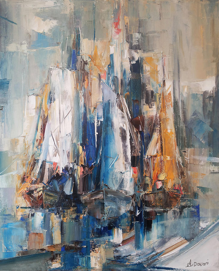Doupine - Chinese Oil Paintings for Wholesale Abstract pictures of boats