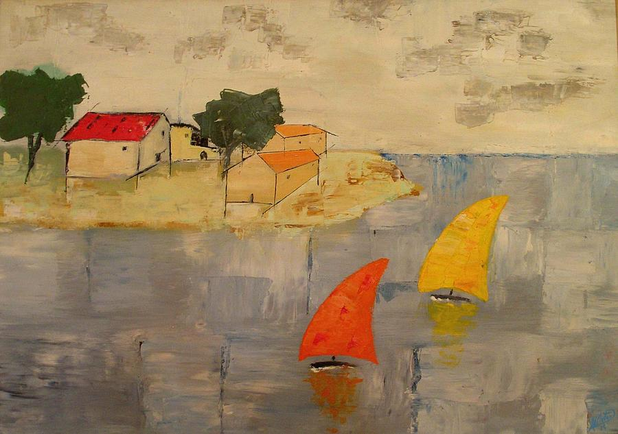 House Painting - Sailing-boats by Anthony Meton