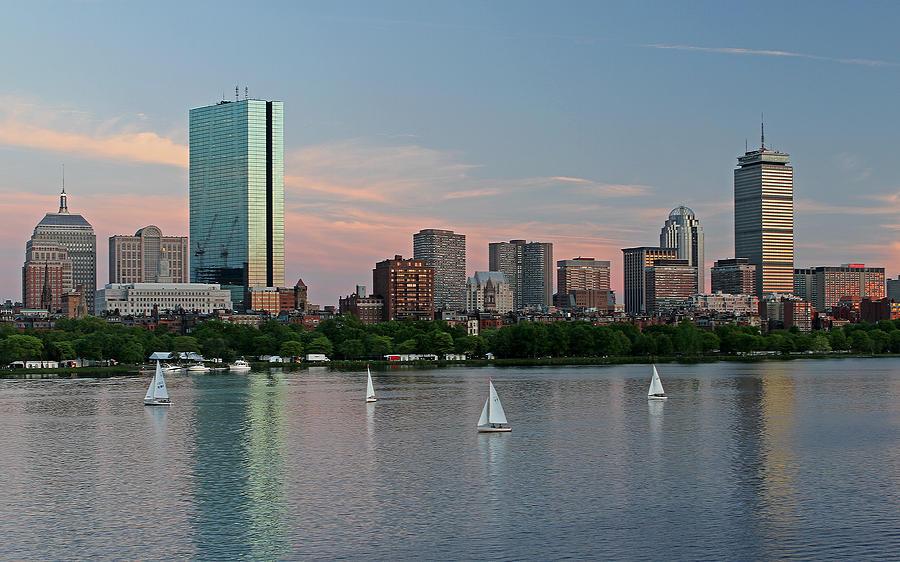 Boston Photograph - Sailing Boston by Juergen Roth