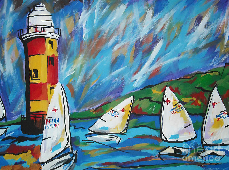 Sailboat Painting - Sailing by Caroline Davis