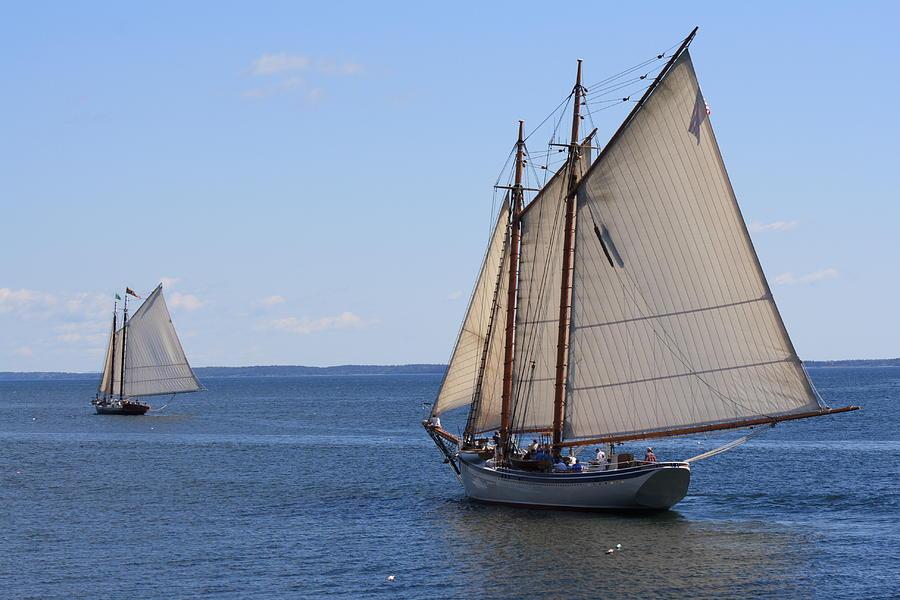 Seascape Photograph - Sailing Downeast by Doug Mills
