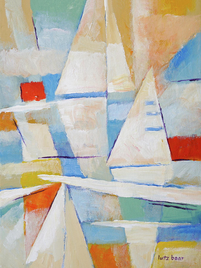 Modern Painting - Sailing Impression Painting by Lutz Baar