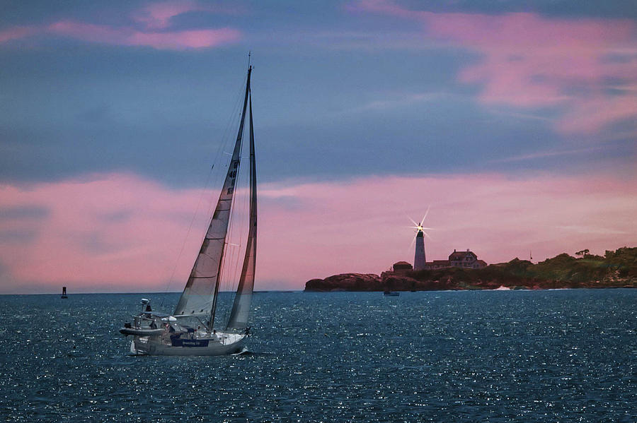 Sailboat Photograph - Sailing In Portland Maine by Joe Granita
