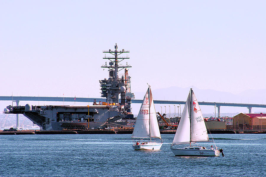 San Diego Photograph - Sailing In San Deigo by Bill Mollet