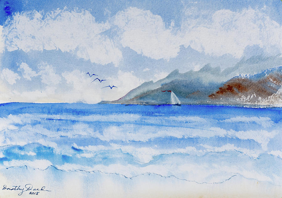 Sailing into Moorea by Dorothy Darden