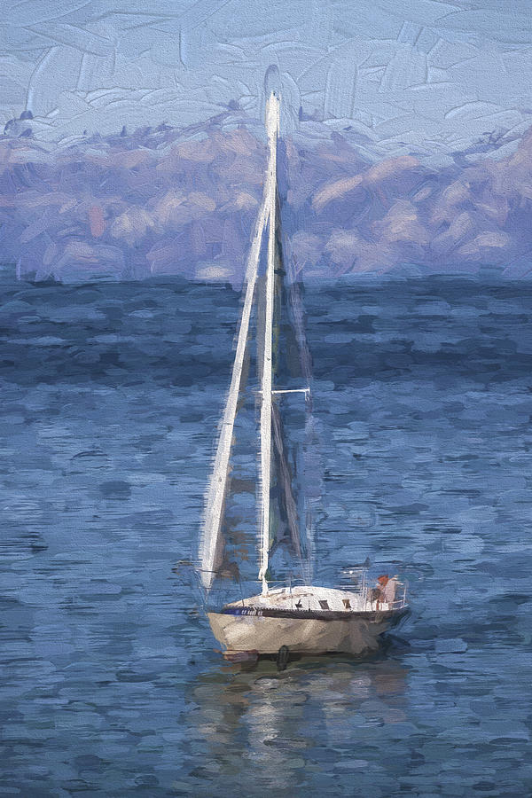 Sailing Photograph - Sailing Lake Tahoe by Carol Leigh