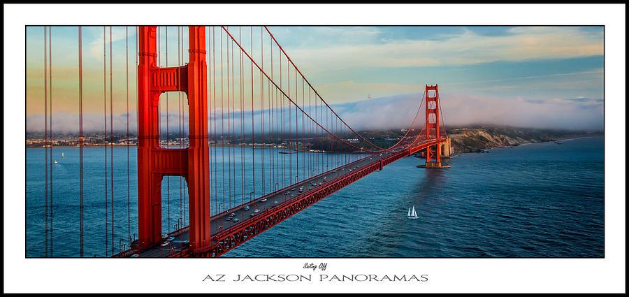 Golden Gate Bridge Photograph - Sailing Off Poster Print by Az Jackson