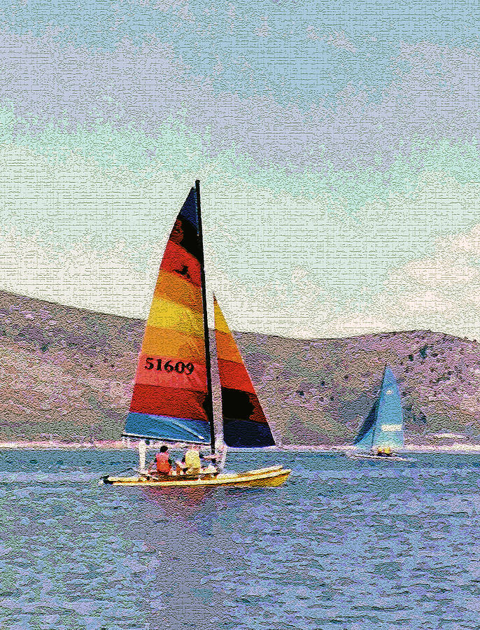 Recreation Photograph - Sailing On A Utah Lake by Steve Ohlsen