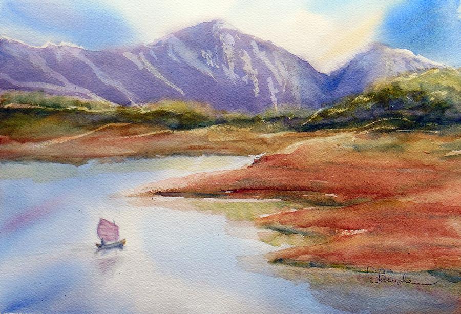 Sailing Painting - Sailing on Heron Lake, NM by Diane Binder