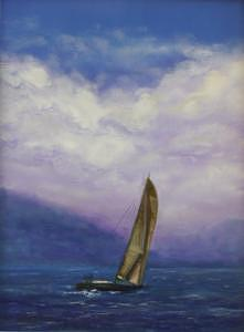 Sailing On The Bay-san Francisco California Painting by Jeanie Chadwick