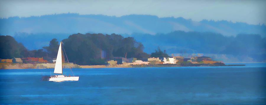 Santa Cruz Photograph - Sailing on the Monterey Bay by Grace Dillon