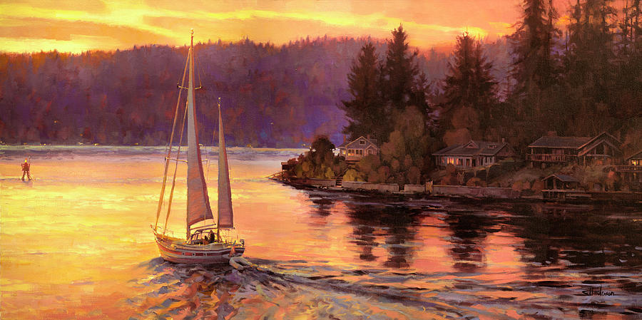 Sailing On The Sound Painting
