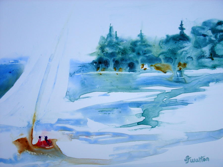 Sailing Painting - Sailing On Yupo by Judy Fischer Walton