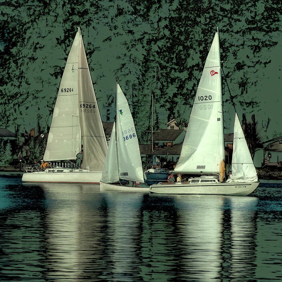 Sailing Reflections Photograph by David Patterson