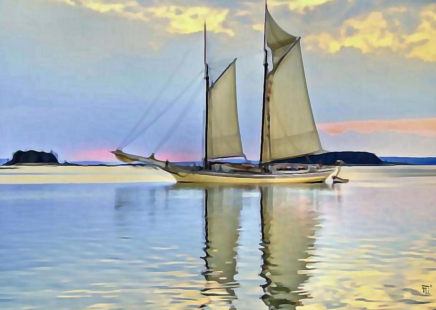 Fli Digital Art - Sailing Sailin Away Yay Yay Yay by  Fli Art