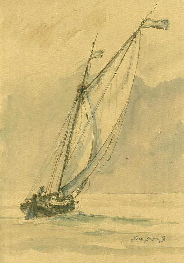 Sail Painting - Sailing Ship by Juan Bosco