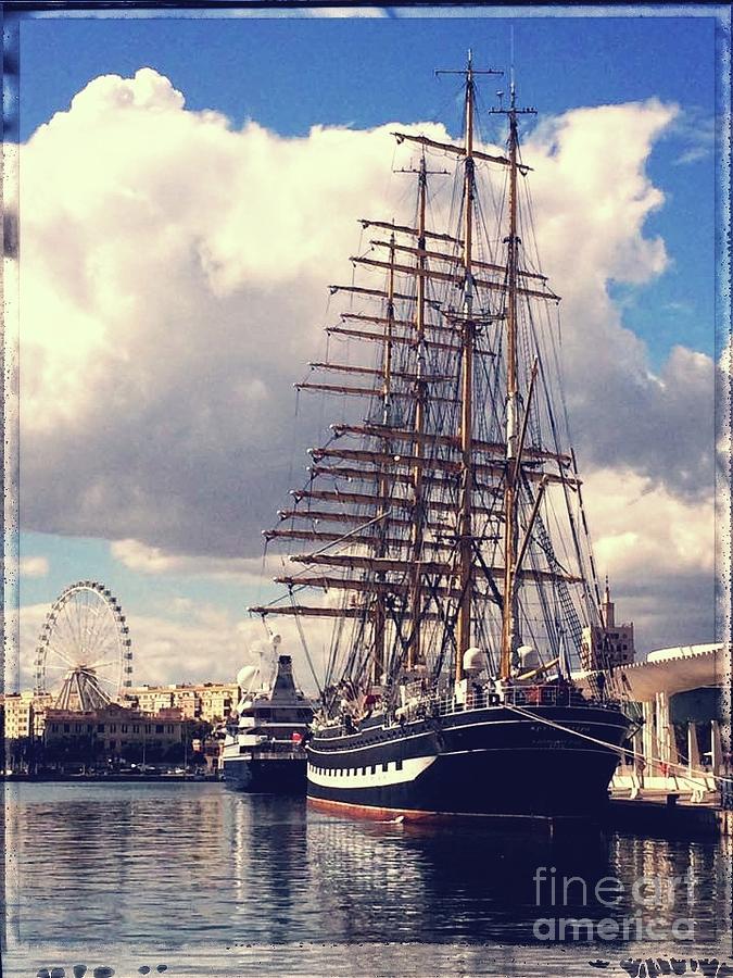 Sailing ship, Kruzenshtern by Jackie Mestrom