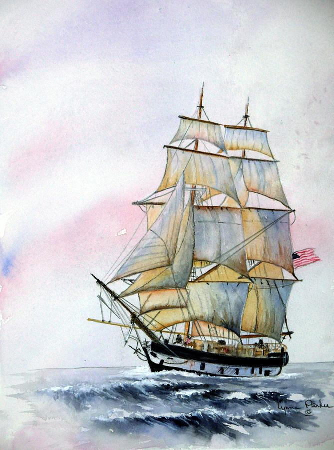 sailing ship painting by lynne parker