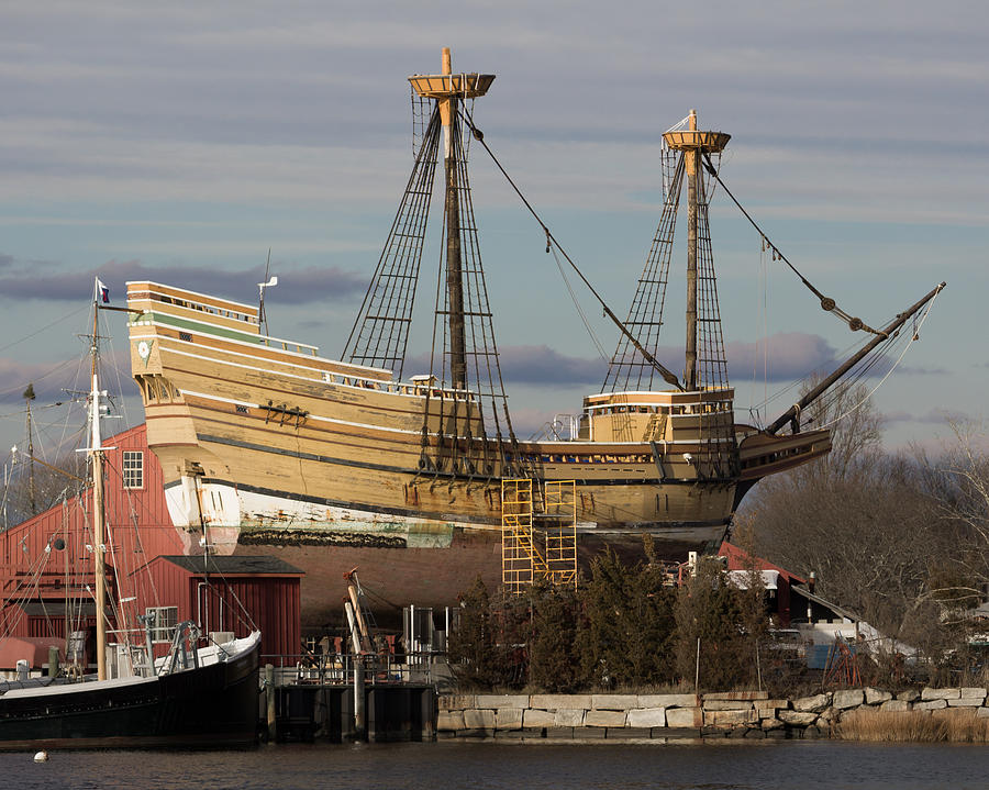 Ship Photograph - Sailing Ship Repairs by Kirkodd Photography Of New England