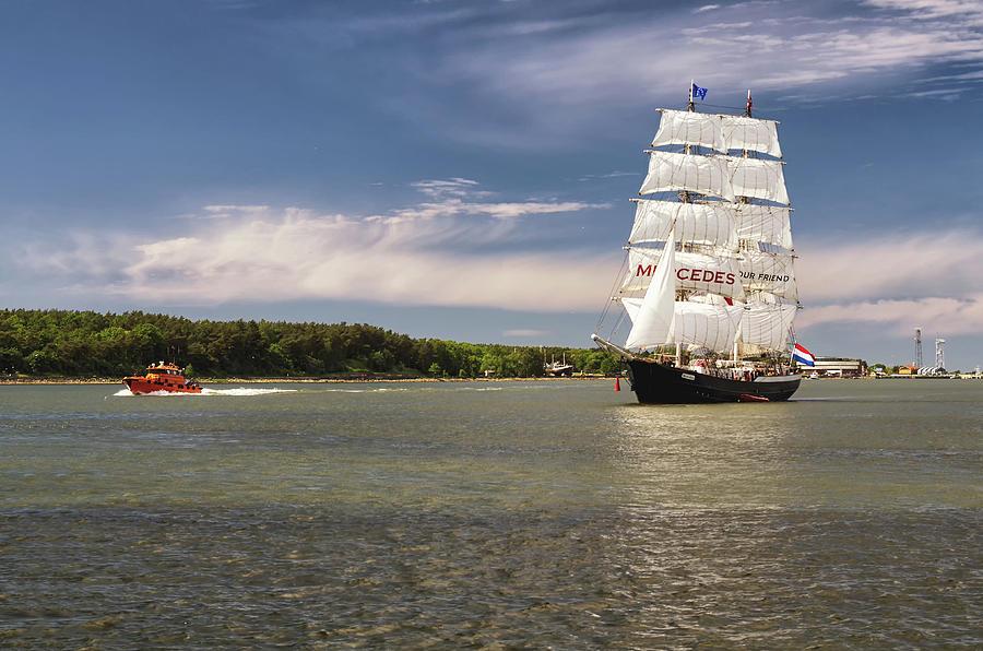 Sailing Photograph - Sailing Ship by Tomas Donauskas