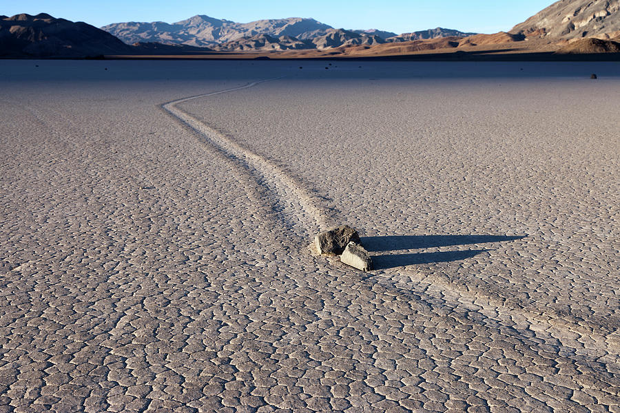 Death Valley Photograph - Sailing Stones Collide On The Racetrack Playa  by Rick Pisio