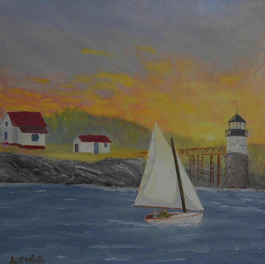 Sailing Sunrise by Scott W White