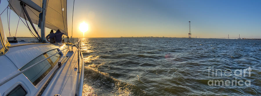 Sailing Photograph - Sailing Sunset by Dustin K Ryan