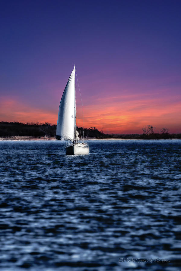Sailing Texoma Shores by Erich Grant