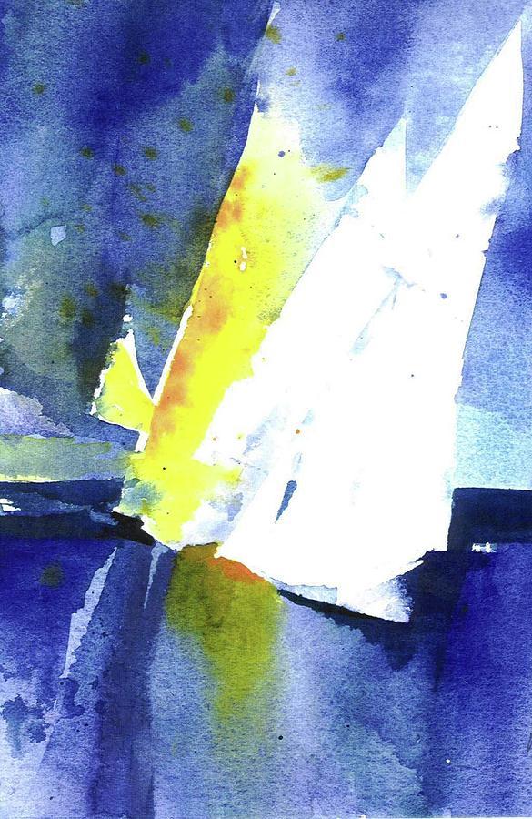Sailboat Painting - Sailing The Bay by Mary Blumberg