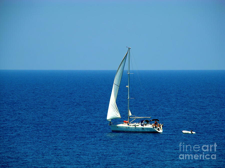 Sailboat Photograph - Sailing The Deep Blue Sea by Sue Melvin