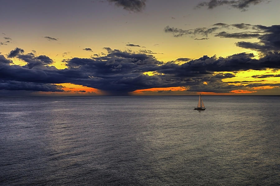 Sailing to Sunset by Peter Kennett