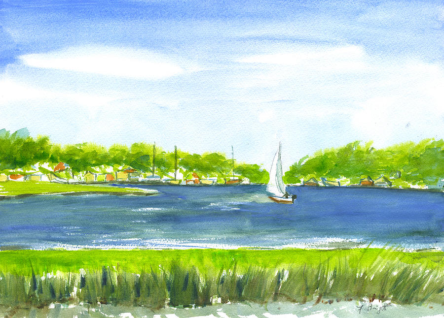 Sailing Painting - Sailing Wexford by Frank Bright